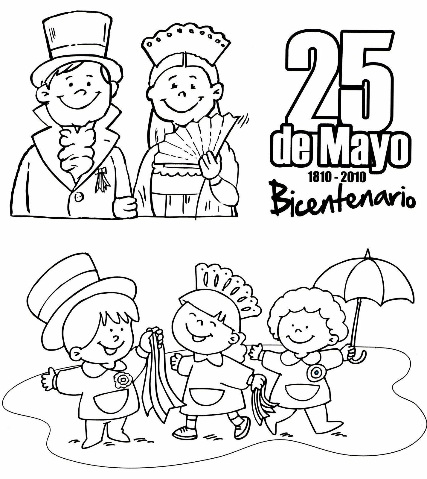 Im  Genes Para Colorear De La   Poca Colonial     25 De Mayo De 1810