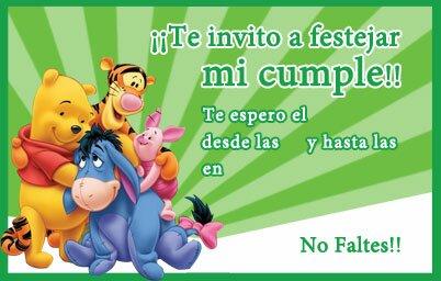 Invitaciones para cumpleaños