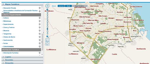 Mapa Interactivo de Buenos Aires para saber como llegar a cualquier punto de la ciudad
