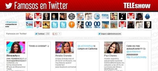 Famosos en Twitter: Todos los artistas en un sólo lugar
