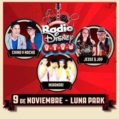 Radio Disney Vivo en el Luna Park: Entradas y Precios