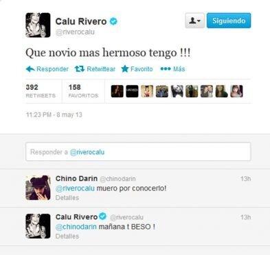 Calu Rivero enamorada piropea al