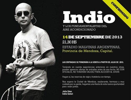 Indio Solari 2013: Esta vez la misa ricotera se traslada a Mendoza