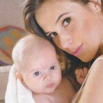 Chechu Bonelli y su hija