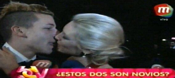 La nueva dentadura de Alexander Caniggia y el beso a Sofía Macaggi