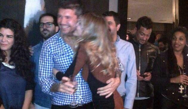 El festejo de cumpleaños de Guillermina Valdes con Tinelli