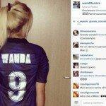 Foto de Wanda Nara con la camiseta de Icardi